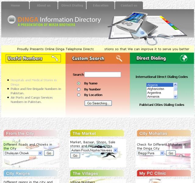Dinga Information Directory