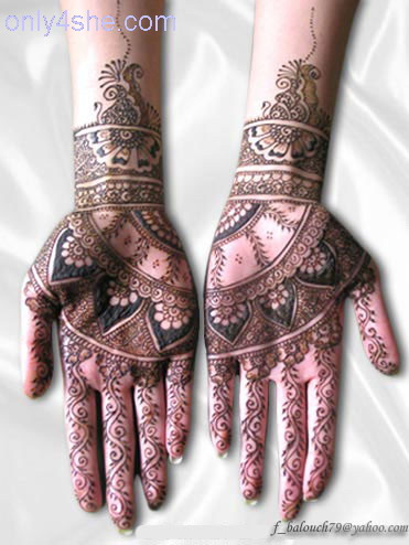 hindu arabic mehndi for hands