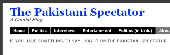 The Pakistani Spectator