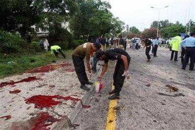 Bomb blast and Blood