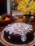 Hennaed birthday cake-2