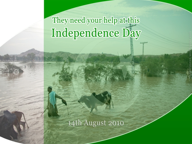 Pakistan-Independence-Day-Wallpaper-for-Flood-Victims