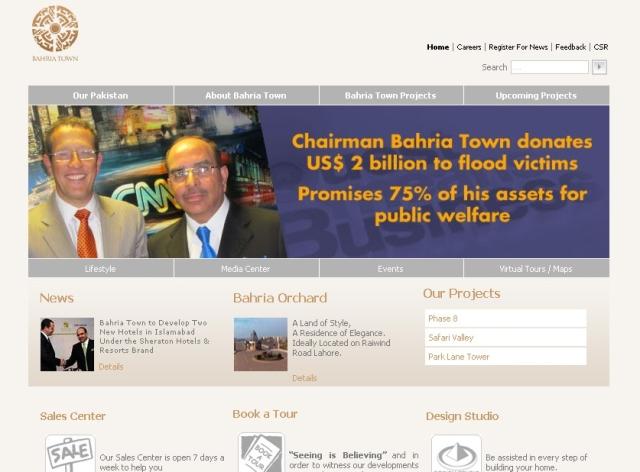 Bahria-Town-Website